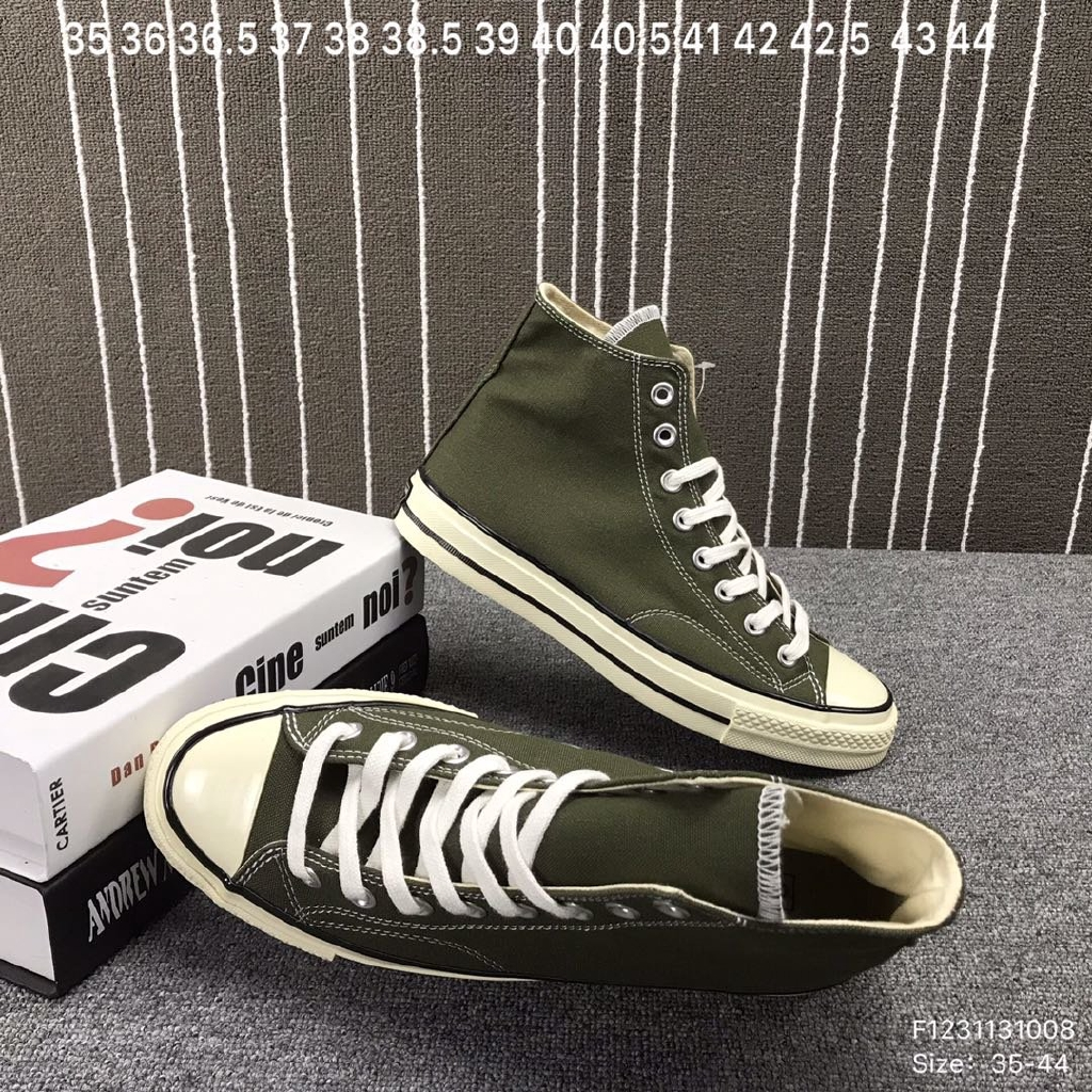 Converse Canvas Shoes Men's Shoes 1970s Green New High Top Sneakers