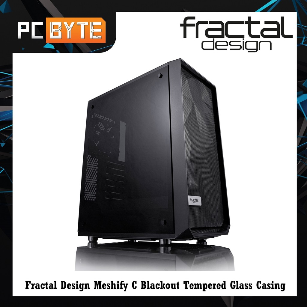 Fractal Design Meshify C Blackout Tempered Glass Casing Shopee Malaysia,Modern Wood Burning Fireplace Designs