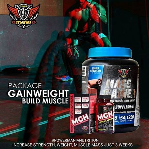 Bulking Package Powermania (Hydro Whey + MGH) *Free Shaker & T-shirt*