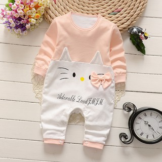 87199d07c Toddler Newborn Cotton Romper Jumpsuit Climbing Clothes - Nude / Hello Kitty  | Shopee Malaysia