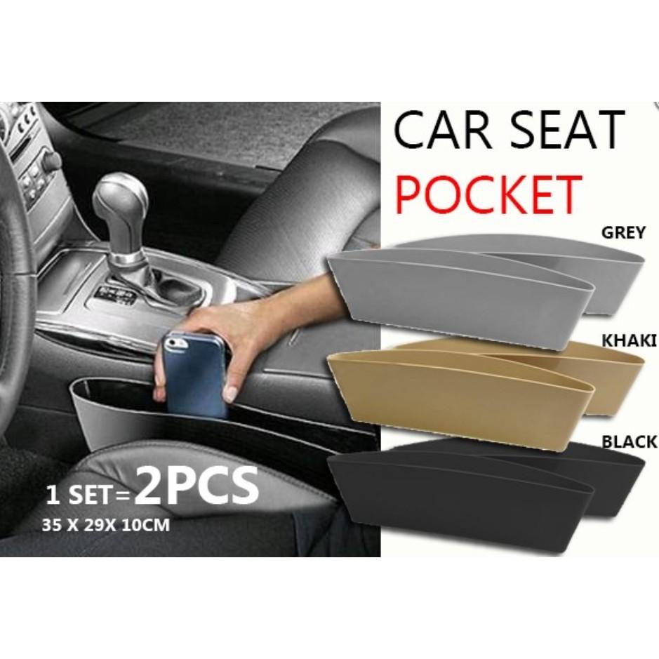 👍M'SIA STOCK] Car Seat Pocket (1 set x 2 pcs)- Bekas Simpanan Dalam Kereta