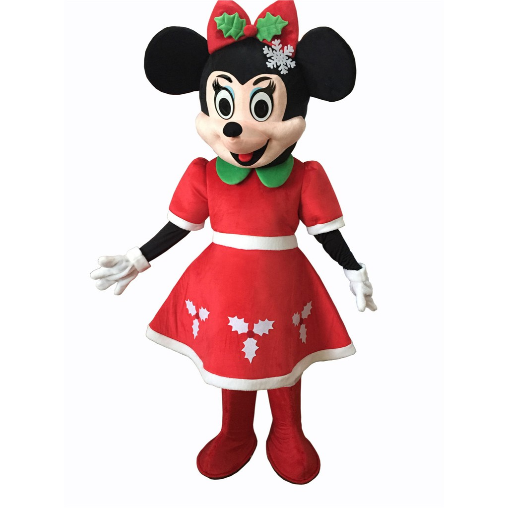 Minnie Mouse Christmas Dress.Christmas Minnie Mouse Mascot Costume Fancy Party Christmas Dress