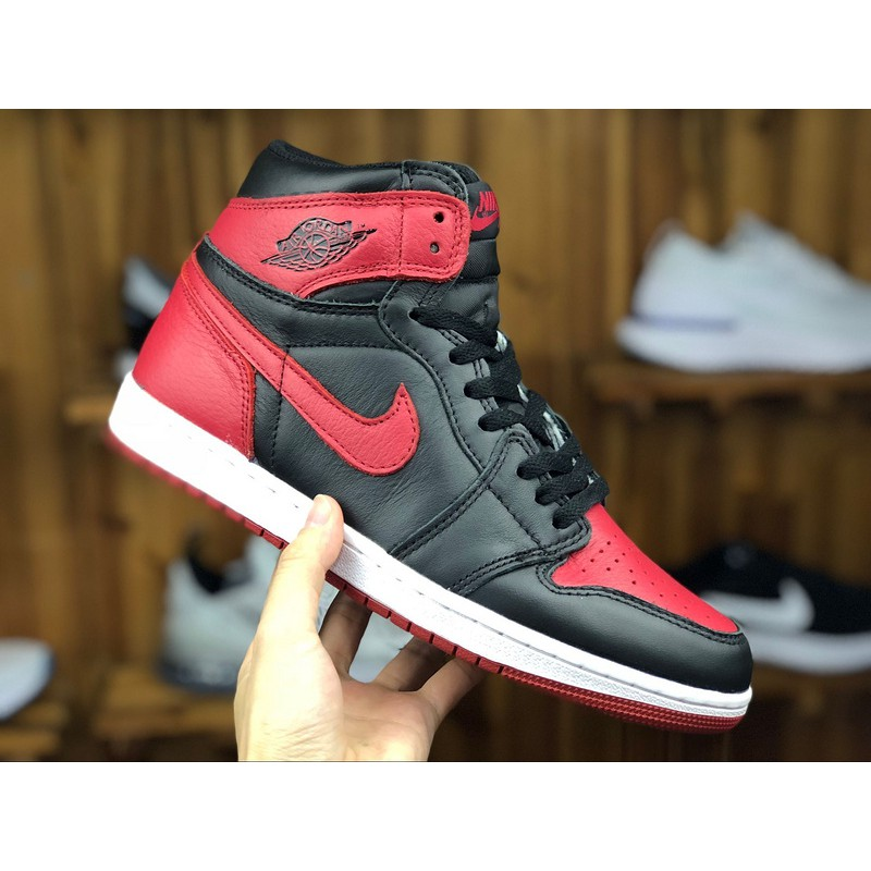 online retailer 02e4e a9cb2 Jordan Air 1 Mid Lifestyle Casual Sneakers Brand New OG Banned AJ1 Black  and Red