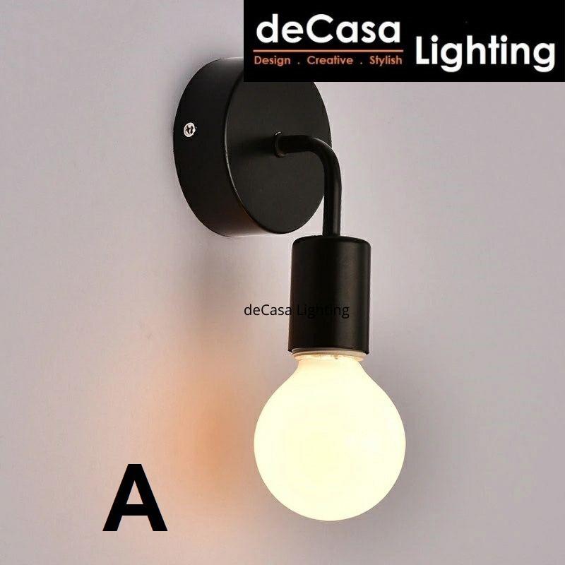 DECASA LIGHTING Wall Light Simple Personality Single Head Small Wall Lamp Bedroom Staircase Lampu Hiasan Dinding(270)