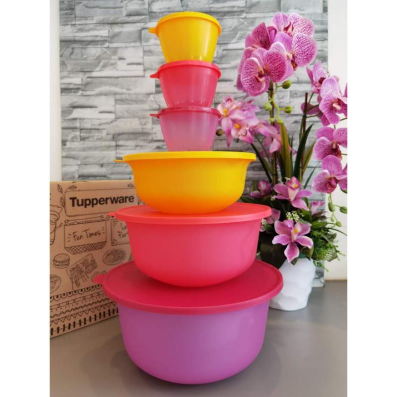 Tupperware Aloha Bowl Set included Handy Fancy