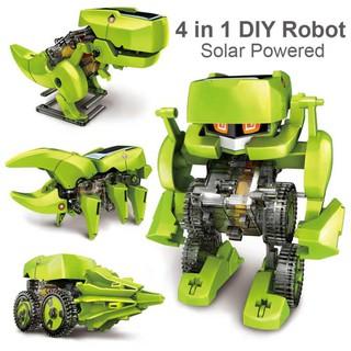 Prado 4 In 1 Dinosaur Solar Power Educational Robot Kit Diy Toy 2126 By Prado