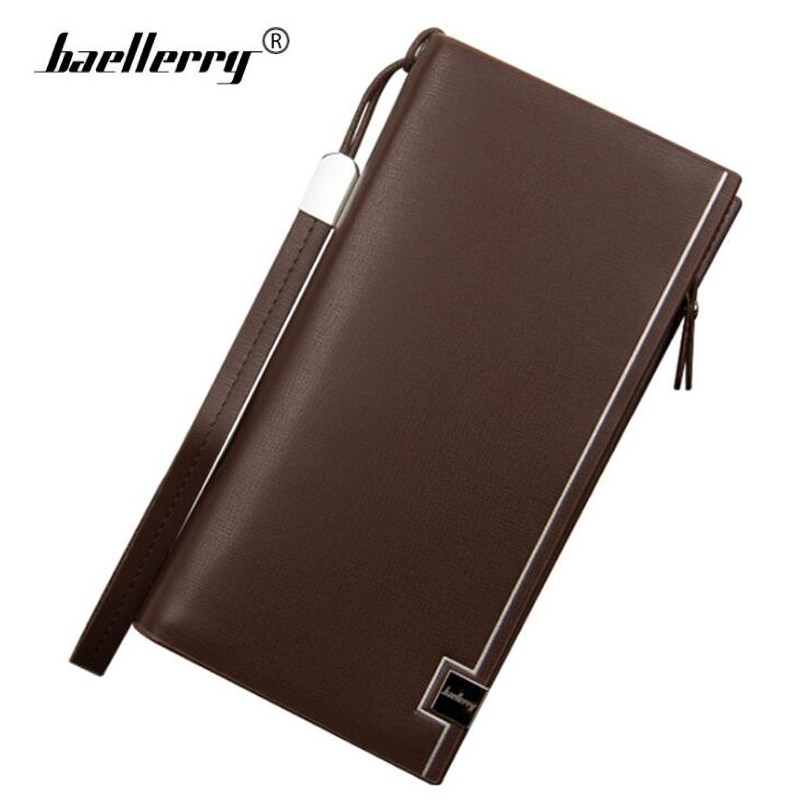 Baellerry Men Wallets Leather Purse Male Wallet Zipper Coin Purses | Shopee Malaysia
