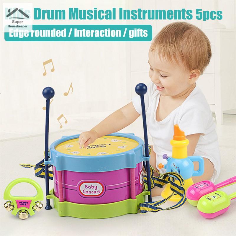 Doll Instrument Drum Musical Toy Children Kids Gift Mini Dollhouse Decor Toys CF