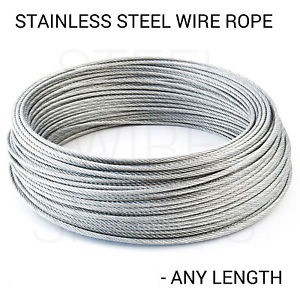 Stainless Steel Wire Rope SS304 (3mm / 4mm) 7X7 / 7X19 on