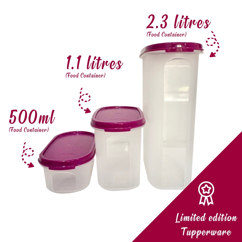 Tupperware Modular Mates Oval Set (500ml/1.1L/2.3L)(3 Pcs) food container lunch storage box fridge friendly