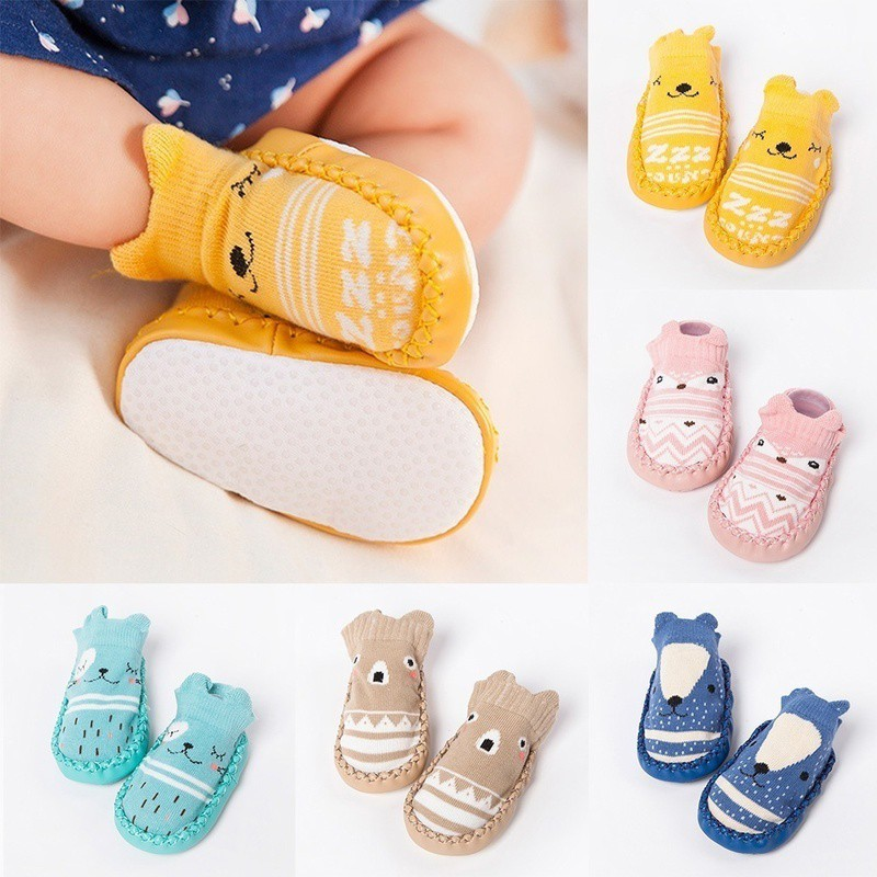 156e8f232 Toddler Kids Child Cute Cartoon Eyes Short Socks Boy Girl Fluffy Slipper |  Shopee Malaysia
