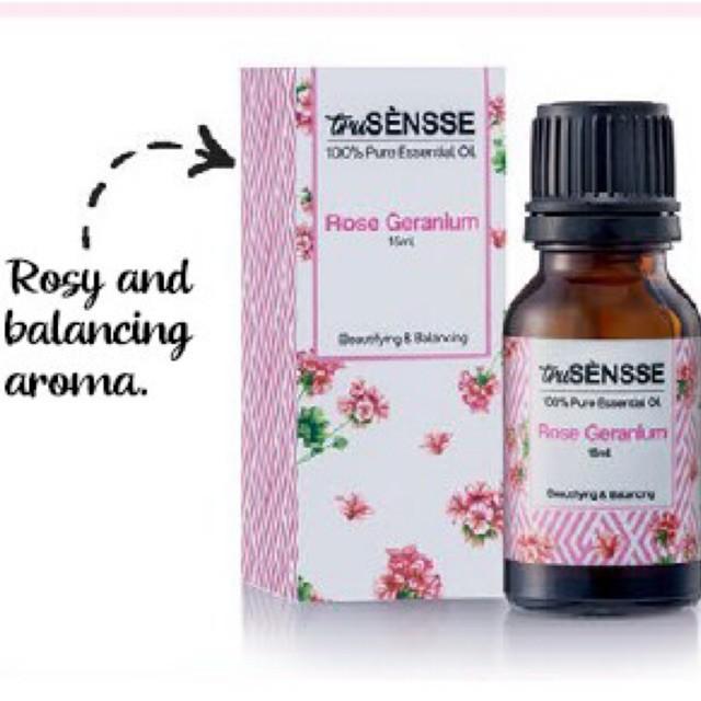 Original Rose Geranium Tupperware Aromatherapy truSENSSE Pure Essential Oil 15ml