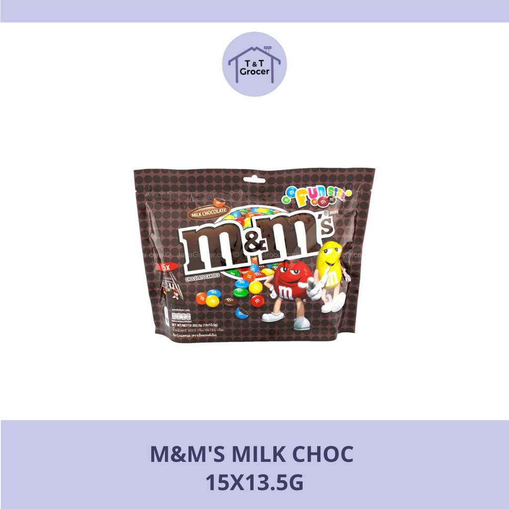 M&M's 15x13.5g (Susu Coklat/ Kacang)