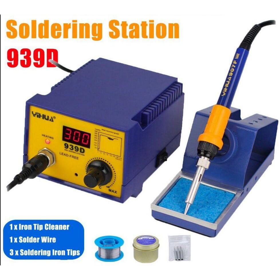 Yihua 992da 4 In 1 Bga Soldering Rework Station Smoke Vacuum Tools Tool Kit 12 Different Circuit Board Shopee Malaysia