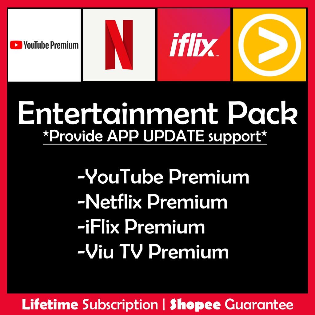 Android Yotube Netflix Viu Iflix Lifetime Vip Shopee Malaysia