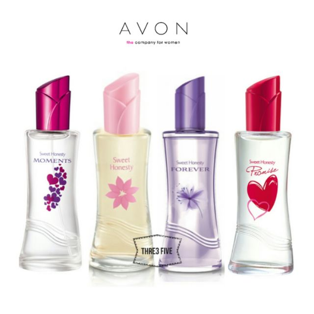 4 Bottles Avon Sweet Honesty Edt 50ml Perfume Fragrance Shopee