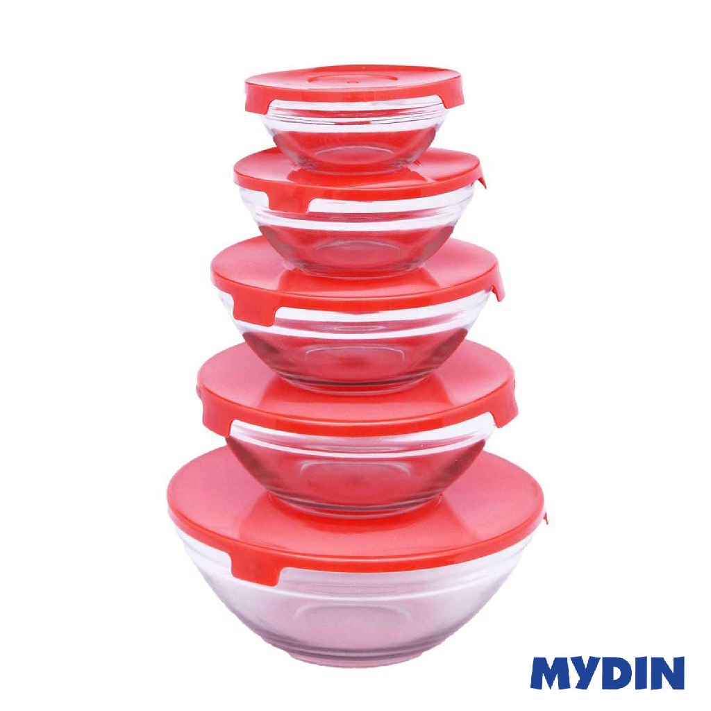 My Home 5-piece Glass Bowl Sets PLN1 JH-BS - ASSORTED COLOR