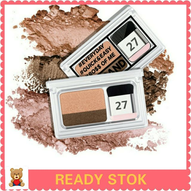 Eye Shadow Small Magic Box Lazy Two-color Gradient Eye Shadow Seal Eye Shadow Powder Plate Gradient Beautiful Makeup Eye Shadow Tray Modern Techniques Back To Search Resultsbeauty & Health