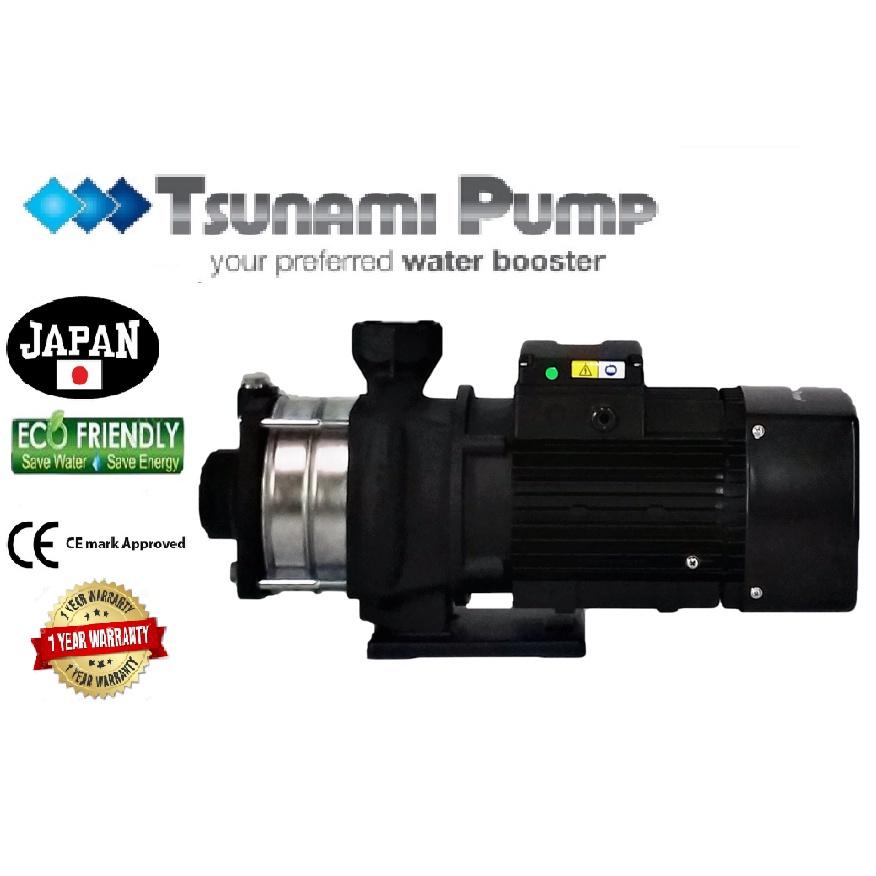 Tsunami CMH12-25T-THREE PHASE Horizontal Multi-Stage WaterPressure Pump BoosterSuitable Hotel & Motel【1 Year Warranty】