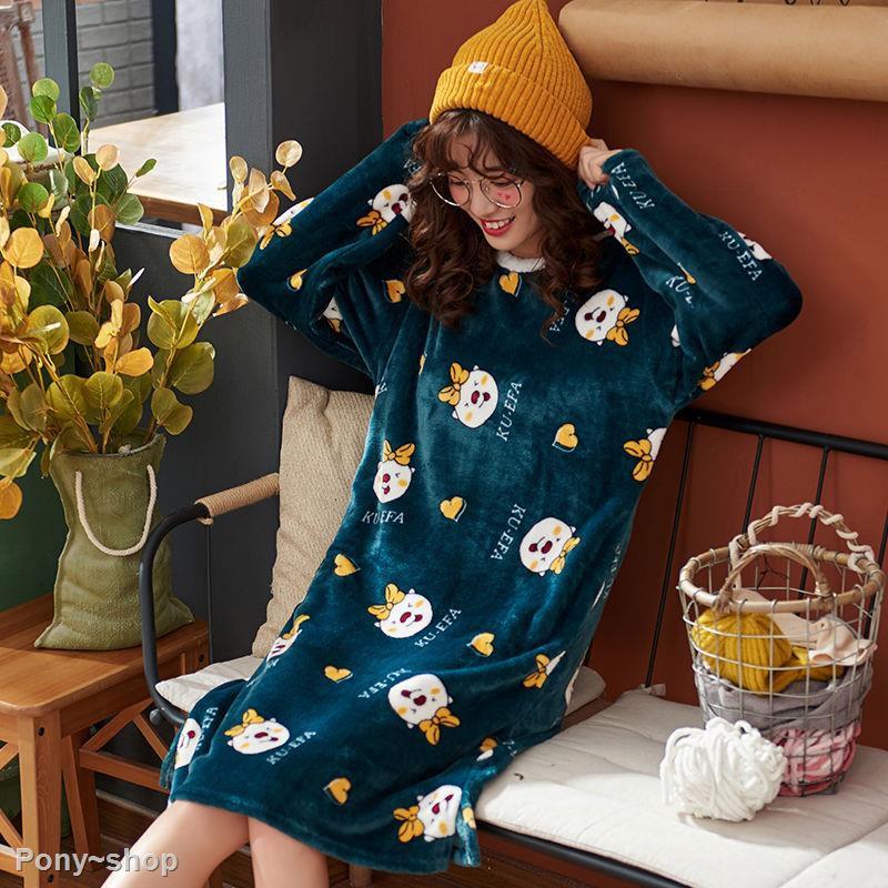Pajamas Trendy XU Girls Cartoon Rabbit Print Dress Sleeveless Modal Nightdress