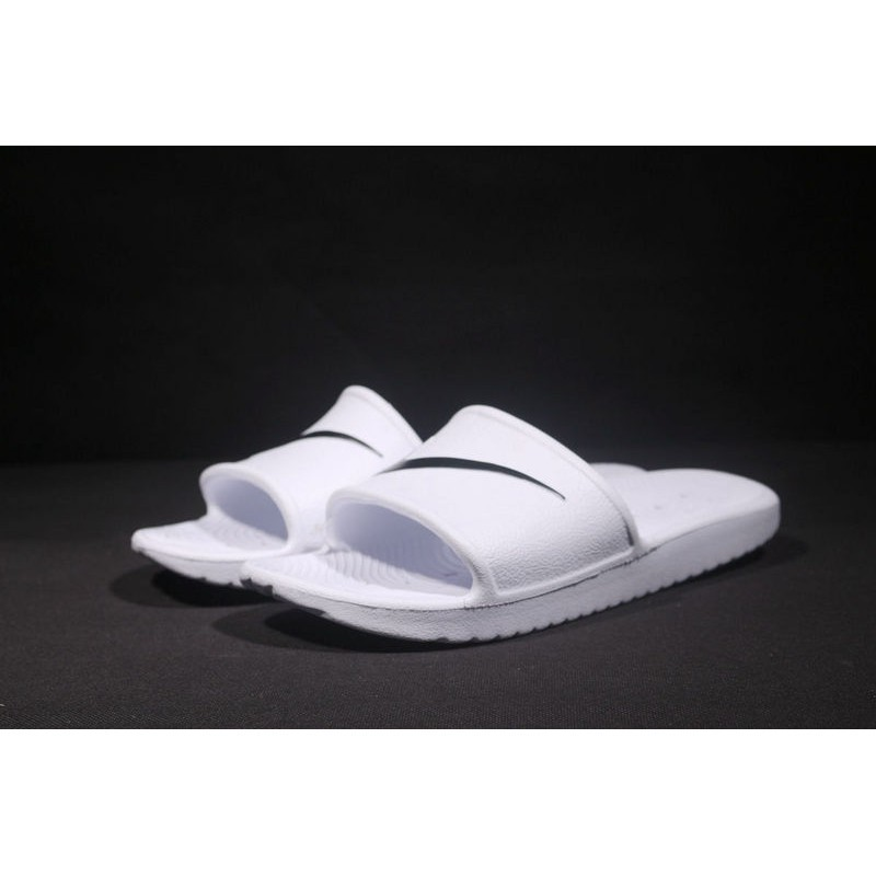 separation shoes 2977a 16326 2018 New Nike Benassi Swoosh Slippers Men Women Sandals Beach Shoes White  Black