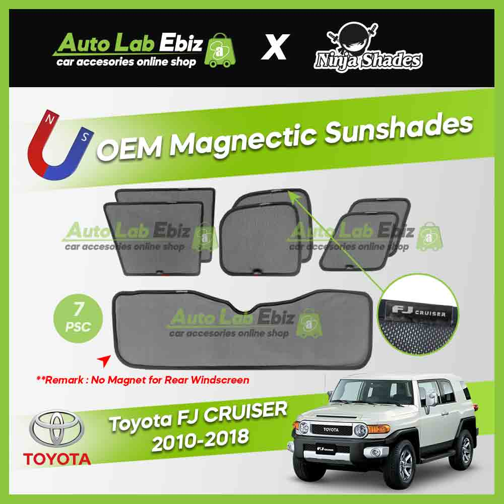 Toyota FJ Cruiser 2010-2018 Ninja Shades OEM Magnetic Sunshade (7pcs)