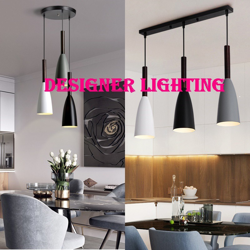 Designer Lighting Set With Led Bulb Colour Hanging Light Ikea Style Lampu Gantung Hiasan Long Based Or Round Based Shopee Malaysia