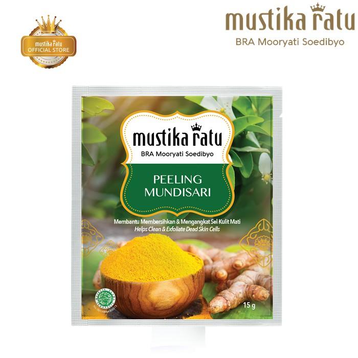 Mustika Ratu Peeling Mundisari For Cleans & Exfoliate Dead Skin (15g)