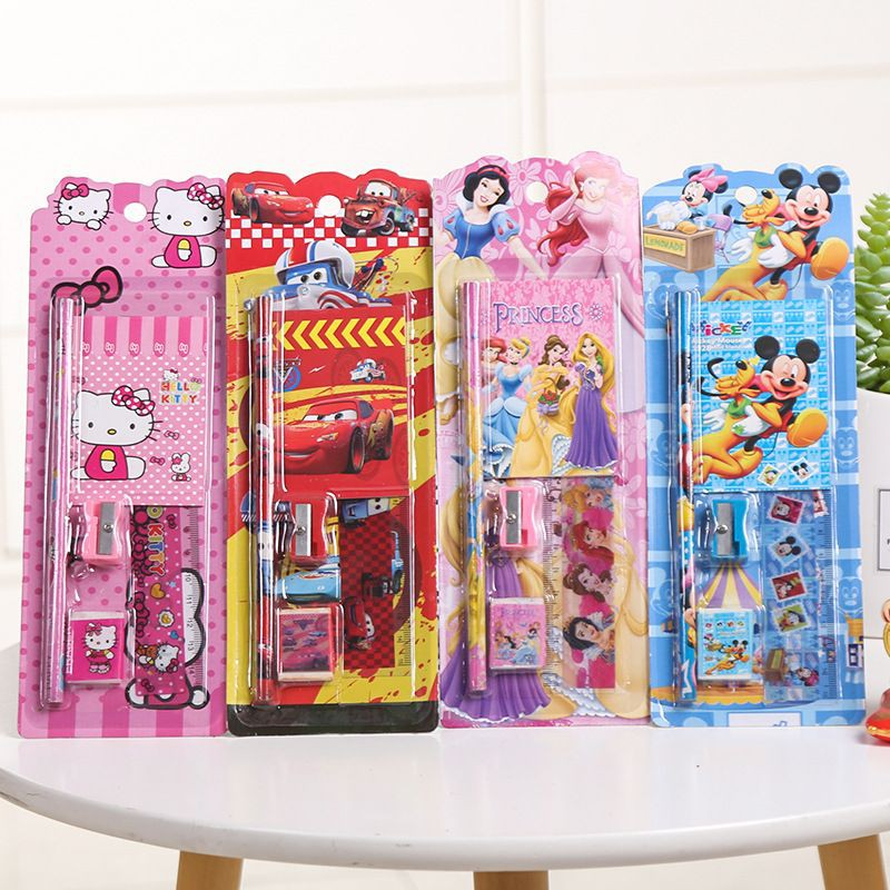 [ READY STOCK ]  5 pcs Stationery suits school supplies pencil suits school students office Pensil supplies Set