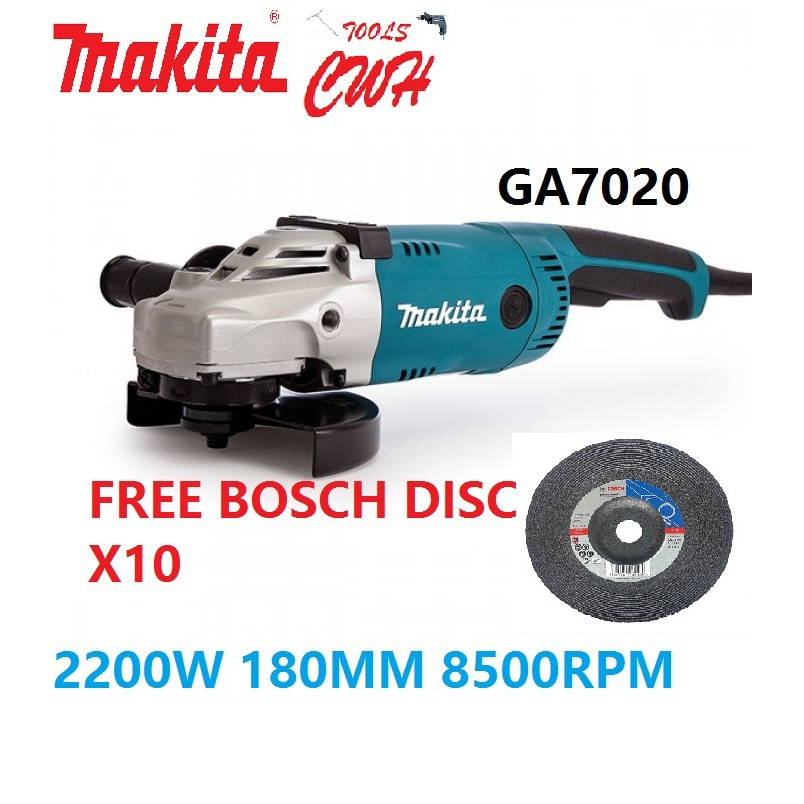 """MAKITA GA7020 2200W 180MM (7"""") LARGE ANGLE GRINDER CUTTER GRINDING CUTTING"""