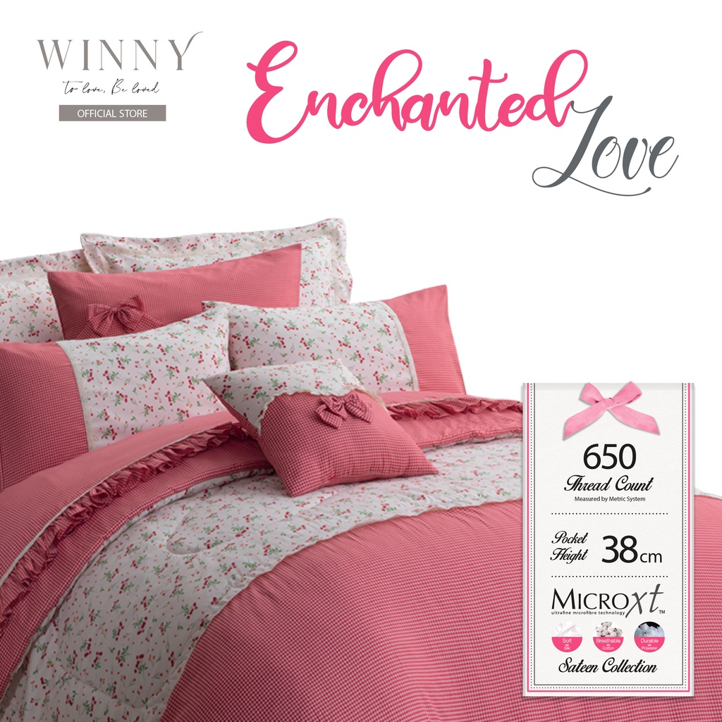 Winny Enchanted Love Fitted Sheet Set