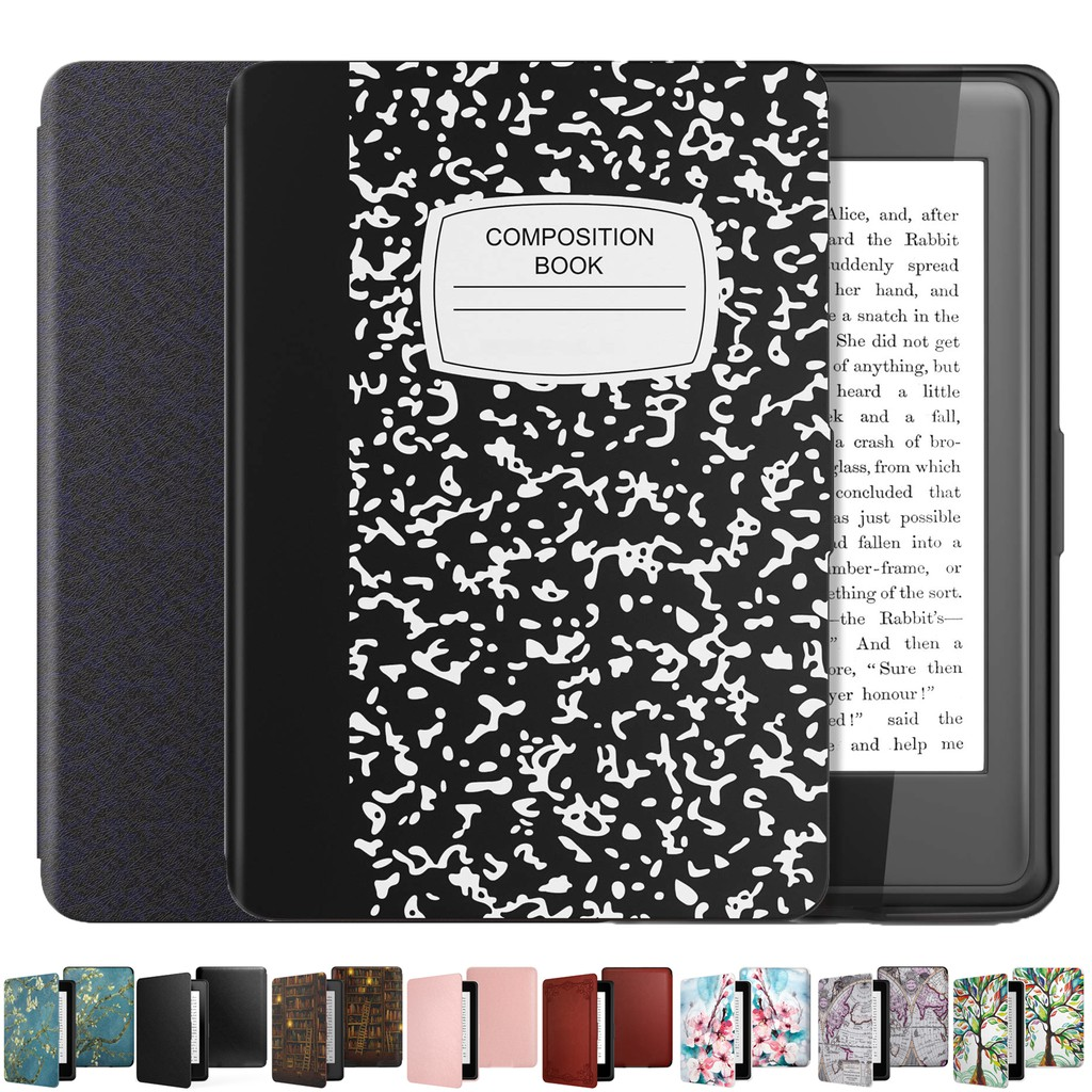 TiMOVO Case Compatible for Kindle Paperwhite PU Leather Smart Cover with Auto Wake//Sleep Fits Paperwhite Versions Prior to 2018 Notebook Black Will not Fit All-New Paperwhite 10th Gen