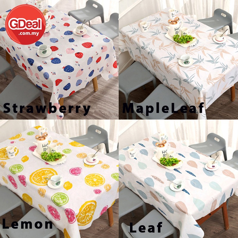 GDeal Oilproof And Waterproof Tablecloth Wipe Clean Table Cover For Kitchen Use (180*137cm)