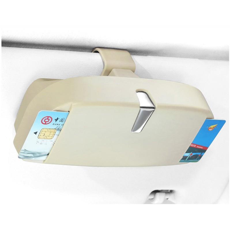 Automotive multi-functional creative fashion glasses box car eye ticket clip car plus sunglasses storage box