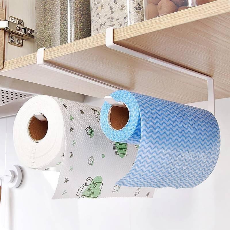 Under Shelf Kitchen Roll Holder: Under Cupboard Unit Shelf Kitchen Paper Towel Roll Holder