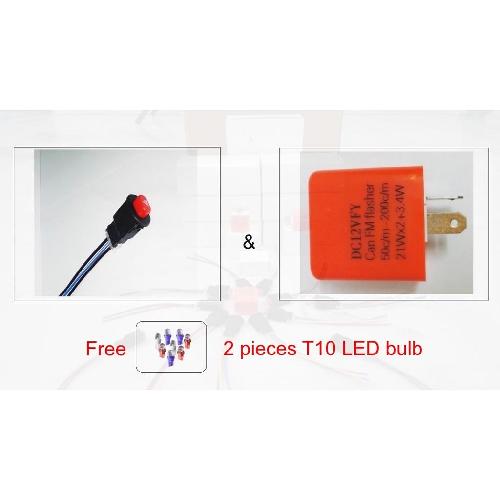 Free Giftdouble Signal Hazard Switch Adjustable Flasher Motor Honda Yamaha Lagenda Wiring Diagram Shopee Malaysia