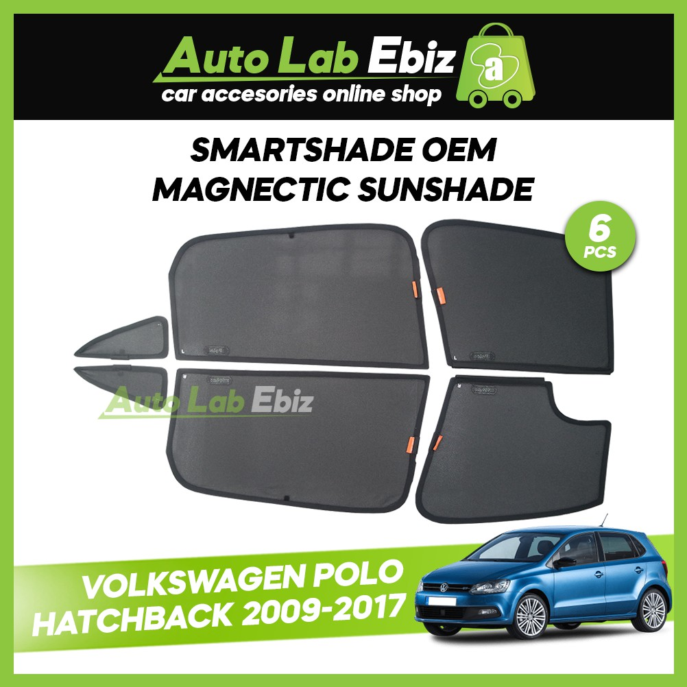 SmartShade Volkswagen Polo Hatchback 2009-2017 (6pcs)