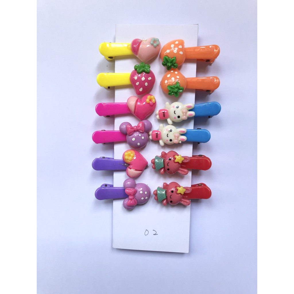 12pcs Kids Hairpin /Hairclip Cute Set Handmade