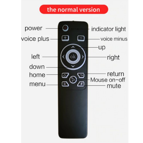 MT3 Air Mouse Voice Infrared Remote Control 2.4G Mini Wireless Smart Remote for Android TV BOX PC with USB Receiver Gyro