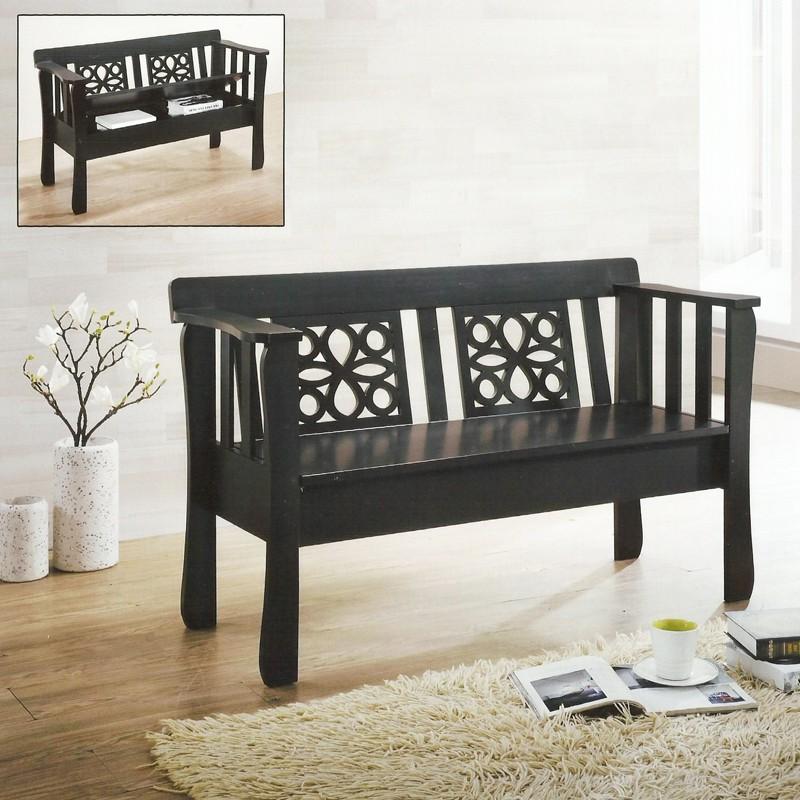 Furniture Direct GLORY STORAGE WOODEN BENCH-CAPPUCINO