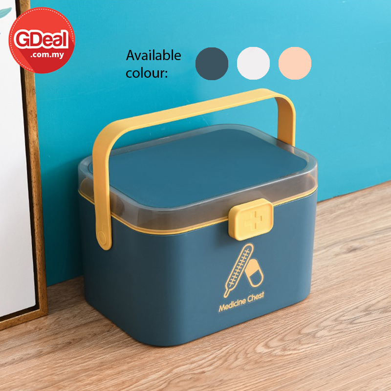 GDeal Large Size Medical Box Case First Aid Portable Storage Box Double Layers Household