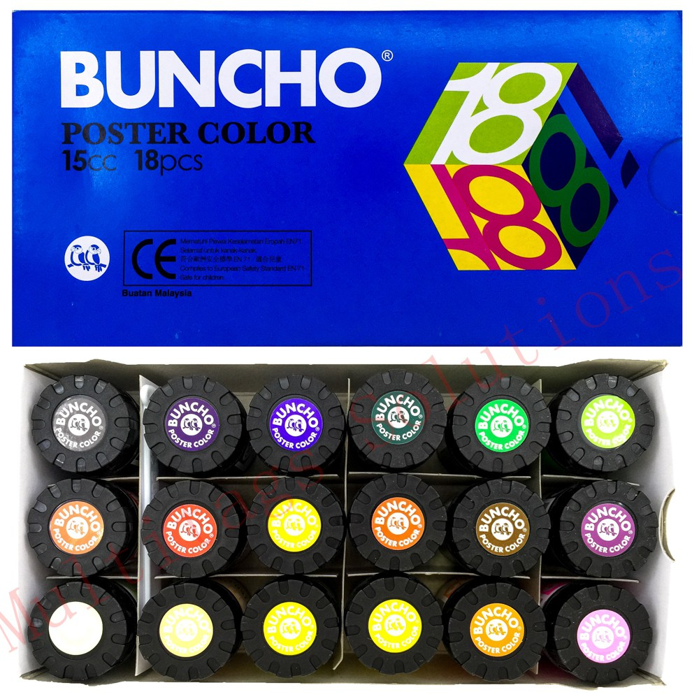Buncho Poster Water Color 15CC 18Color