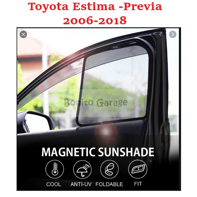 Magnetic Sunshade Toyota Estima Previa 2006-2018 6pcs