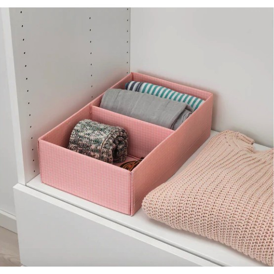 Original STUK Box with compartments 20x34x10 cm clothes organization toy organization