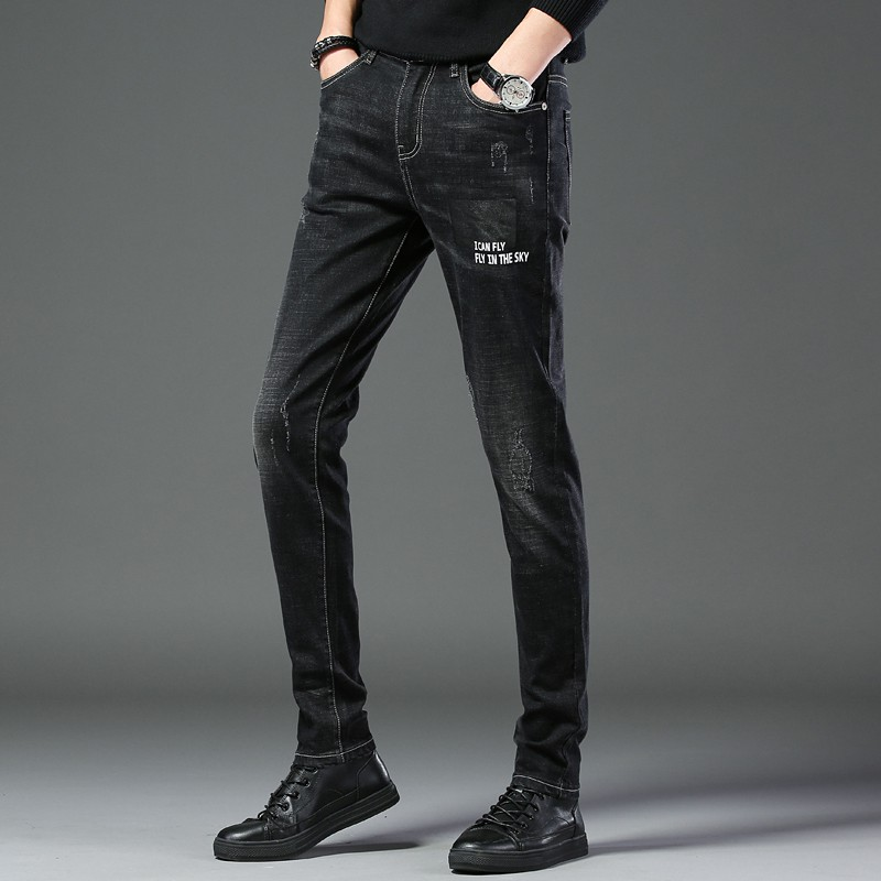 Theshy Mens Stretchy Ripped Skinny Biker Jeans Destroyed Taped Slim Fit Denim Pants Mens Jeans Mens Pants