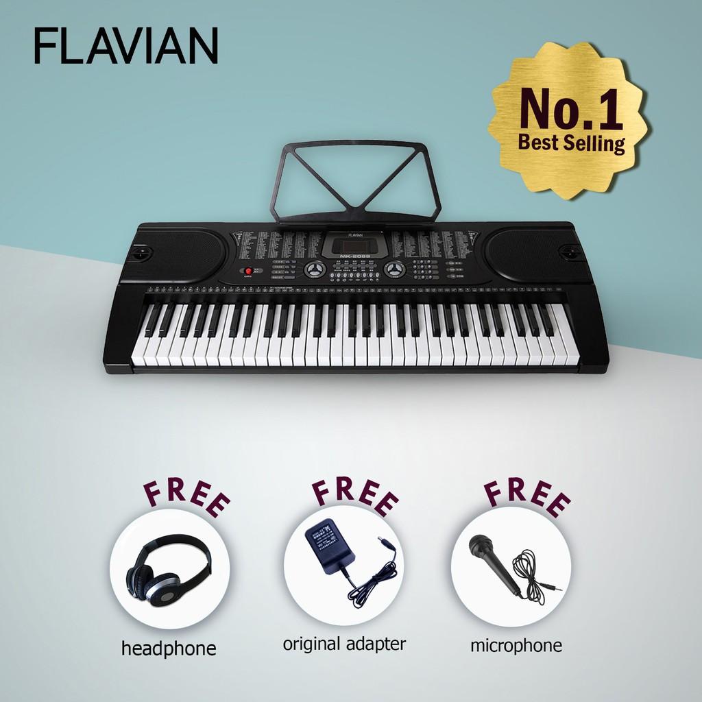 Flavian MK-2089 61 Keys Digital Piano Electronic Keyboard Package