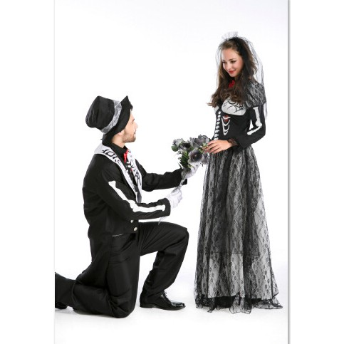 4c2f20d39f4aa Ghost Festival Real Shot Zombie Couple Set Halloween Game Suit Cosplay  Stage Dre