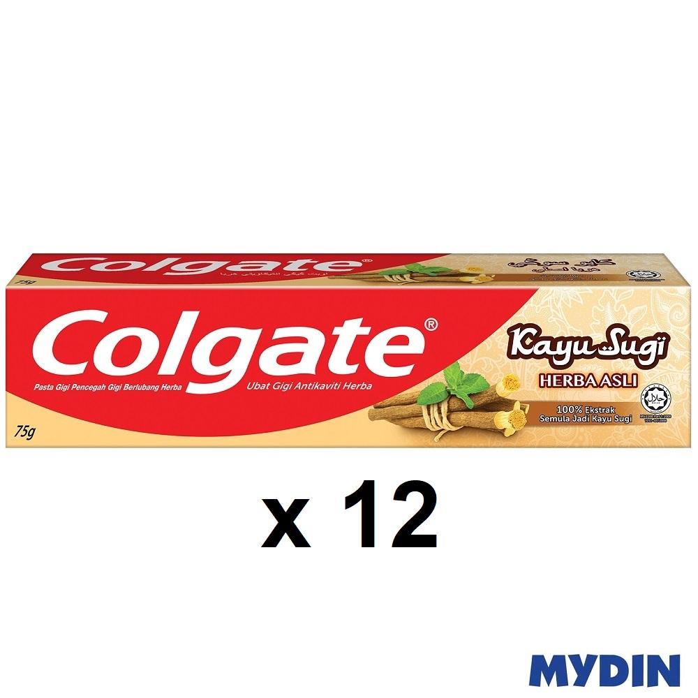 Colgate Anticavity Toothpaste Kayu Sugi (75g x 12)