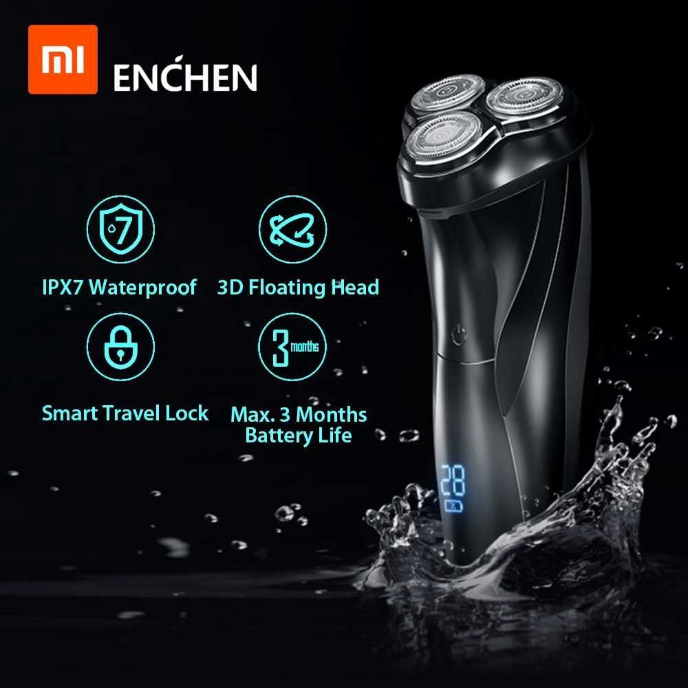 Xiaomi Enchen BlackStone 3 Electric Shaver 3D Triple Floating Blade Heads Shaving Razors Men Facial Beard Trimmer USB R