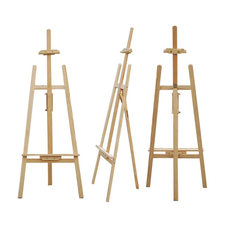 Wooden Easel Display Stand, Artist Painting Display Easel Stand, Tripod Poster Stand (175cm)